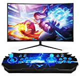 LIVHOOU Video Arcade Game Console 3D Arcade consoles, with 3399 Retro Games Players for PC/Laptop/TV Blue
