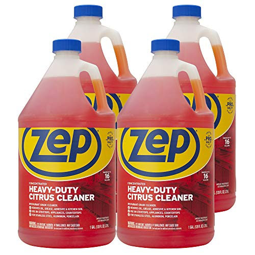 Zep Heavy-Duty Citrus Cleaner and Degreaser 128 Ounce ZUCIT128CA (Case of 4) Concentrated Pro Formula