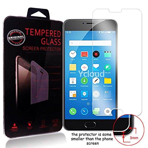 Ycloud Panzerglas Folie Schutzfolie Bildschirmschutzfolie für Meizu M3 Note screen protector mit Festigkeitgrad 9H, 0,26mm Ultra-Dünn, Abger&ete Kanten