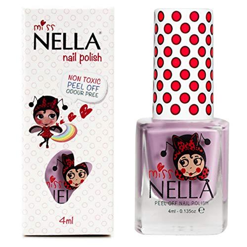 Miss Nella BUBBLE GUM- Spezieller Nagellack Lila für Kinder, Peel-Off-Formel, wasserbasiert und...