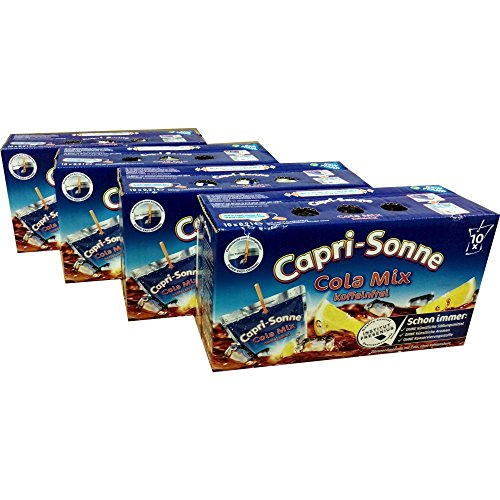 Capri Sonne Cola Mix 4 Packungen á 10 x 200ml (40 gesamt)