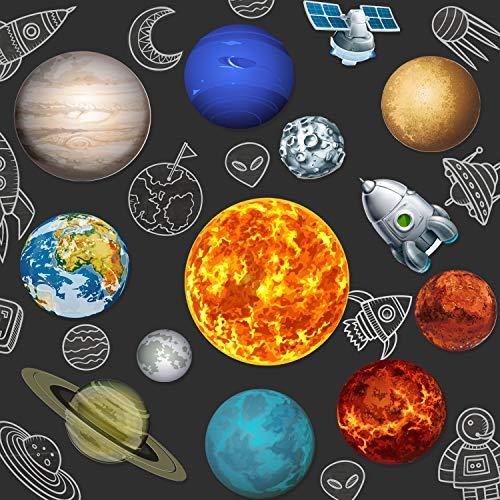 13 Stücke Solar System Party Lieferungen, 2 Seiten Gedruckt Solar System Ausschnitte Planet Ausschnitte für Weltraum Dekorationen