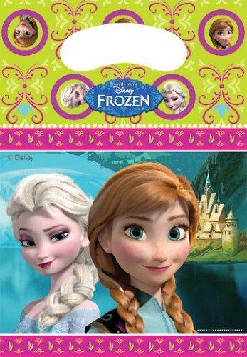 6 Partytüten * Frozen - Die Eiskönigin * für Party und Geburtstag // Geburtstag Party Fete Set Disney Prinzessin Anna Mädchen Mottoparty Geburtstagstüten Mitgebsel Tüten Geschenktüten