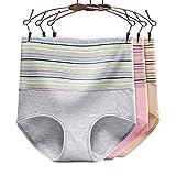 Ritu Creation Women's Cotton Spandex High Waist Panty/Tummy Control Panty (Pack of 3)