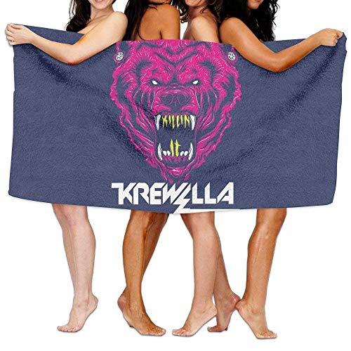 "Krewella Killin' It Bear! Bath Towel Colorful Beach/Bath/Pool Towel 51.2"" X 31.5"""