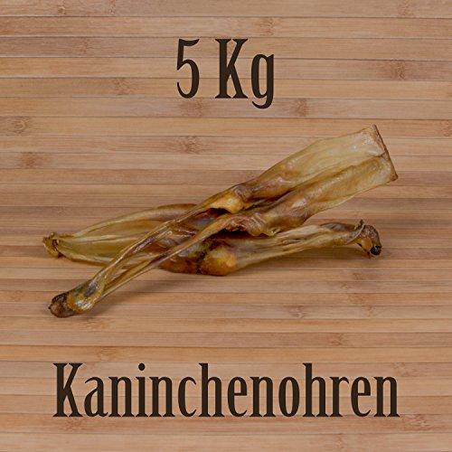 5 Kg ca. 500 Stück Getrocknete Kaninchenohren wie Schweineohren Rinderohren Kausnack Kauartikel