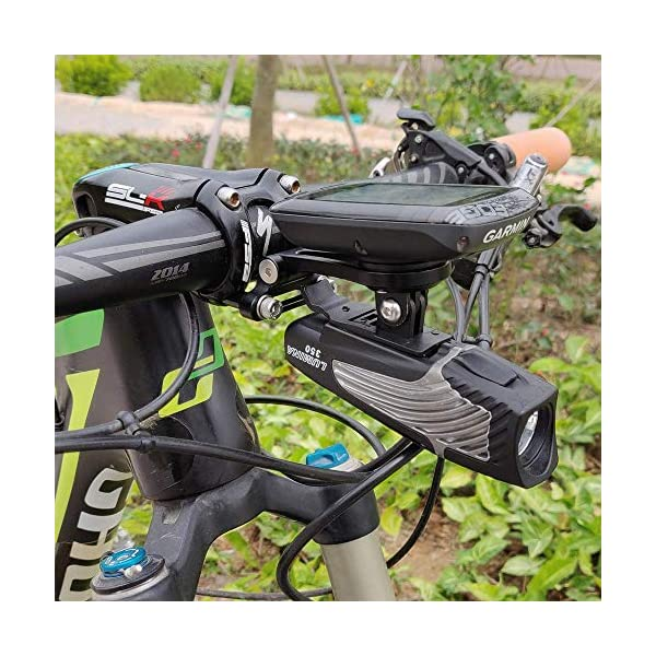 Road Bikes TedKat Wahoo Mount, Out Front Combo Bike Mount for Wahoo Elemnt,Wahoo Elemnt Bolt, Wahoo Elemnt Mini, and Camera (Adjustable Wahoo Mount)