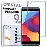 REY - Protector de Pantalla para LG Q8 2017, Cristal Vidrio Templado Premium