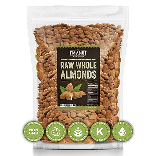Raw Almond 48oz | Natural | Whole | No PPO | Non-GMO | No Herbicide | Healthy Protein boost | Premium Quality | Try the difference!!