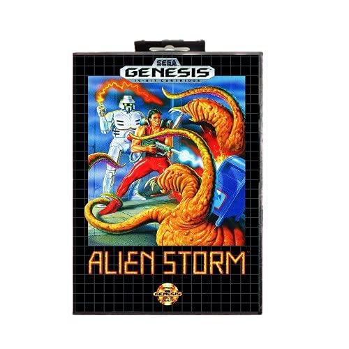 Royal Retro La carte de jeu Alien Storm 16 bits MD comprend une boîte de vente au détail pour Sega Genesis et Mega Drive