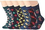RedMaple - 6 pares de calcetines para hombre con estampado de colores, algodón peinado, talla 39-46 Serie B (eu 39-46) Talla única