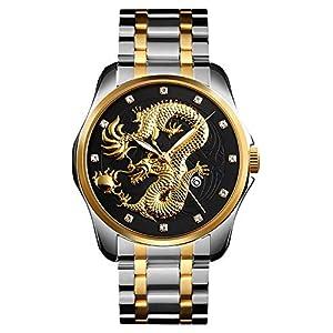 Men Boy Luxury Gold Quartz Watch
