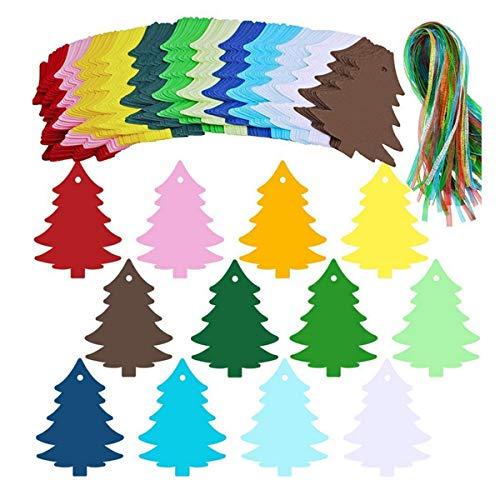 Senteen Etiquetas de Regalo de Navidad 120 Pcs Etiquetas de Papel Kraft Blanco Etiquetas Regalo Comunion Para Envolver Regalos y Tarjetas de Deseos Etc