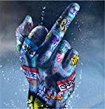 Graffiti Art Game Canvas Art Posters Game Handle Canvas Paintings on The Wall Kid's Room Decor 50x50cmnoframe W25-16