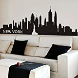 Vinyl New York Wall Sticker New York City Decal New York Skyline Wall Decor Wall Mural Wall Graphic Home Art Decor £¨Large,Black