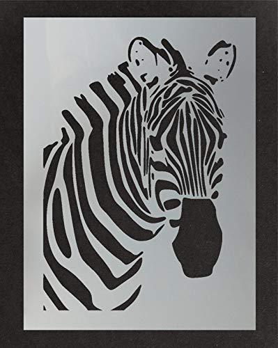 Zebra Kopf Schablone Art Decor & Basteln Schablone Malen Leinwand Kunst, Wände, Stoffe, Möbel Verschiedene Größen Optionen Wiederverwendbar Stencil By Ideal Stencils - XS/ 11X16CM
