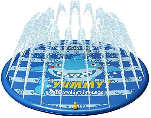 MGE Kinder-Splash Spiel-Matten-Schlauchboot Außen Sprinklerwasser Pad Eindickung PVC Sommer-Wasser-Spray-Auflage for Kinder Babys Kleinkinder (Size : 68 inch)