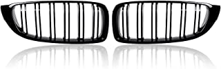 Compatible with 2014-17 18 BMW F32 F33 F36 435i 428i F82 F83 Gloss Piano Black Kidney Grill