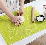 Lukzer 1PC Washable Silicone Non-Stick Baking Mat Fondant Rolling Reusable Sheet with Measurements