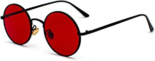 Inlefen Unisex Circle Style Sunglasses Colored Fashion Metal Frame Glasses