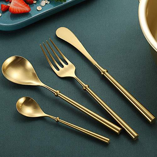 Gwxevce Golden Metal Spoon Use for Snuff Powder Spoon Tea Pendants Tableware Tea Spoon