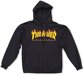 Thrasher Flame Hoodie, Black, Medium