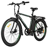 ANCHEER 26' Electric Cruiser Bike w/Removable 10AH Battery Adults City Ebike and 6 Speed Gear Electric Bicycle
