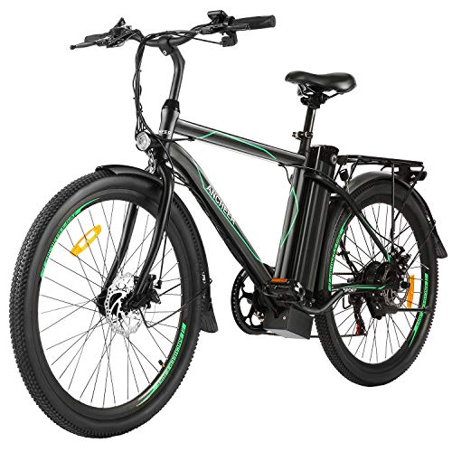 """ANCHEER 26"""" Electric Cruiser Bike w/Removable 10AH Battery Adults City Ebike and 6 Speed Gear Electric Bicycle"""