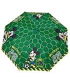 Perletti perletti50103 Boy Mini 54/8 3 secciones impreso Mickey a prueba de viento paraguas con vitrina, multicolor