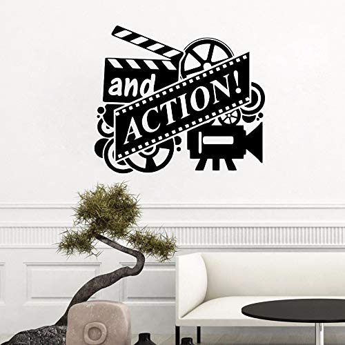 Wandaufkleber Für Klassenzimmer, Action Movie Filmrolle Kino Kino Theater Film Action Abstrakte Dekoration Vinyl Decor Poster Bild Drucken Aufkleber Poster