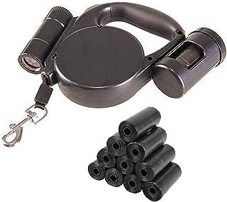 Laisse pour chien enrouleur Lampe Torche LED et Distributeur Sac a crotte Intégrés🤩150 sacs crottes chien OFFERT!!! 🤩 La...