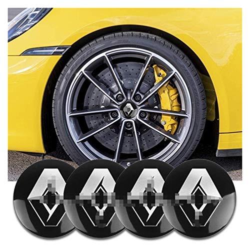 RVTYR 4pcs Wheel Hub Center Caps, Emblema de 56 mm Caps Center Caps, para Renault Megane 2 3 Duster Logan Clio Laguna Captur, Accesorios de Estilo de automóvil Cap de hub de Rueda tapacubos