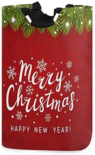 XCNGG Cesta de lavandería Plegable Feliz año Nuevo Navidad Cesta de lavandería Plegable Bolsa Grande para Dormitorio, baño, guardería de bebé, Organizador de Juguetes