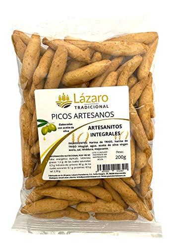 Lázaro Artesanitos Integrales, Picos de Pan Artesanos Elaborados con Aceite de Oliva Virgen Extra y...