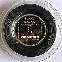 Genesis ジェネシス ブラックマジック16, 200m ロール テニスストリング、ゲージ1.29mm