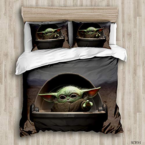 Watpasper Movie Characters Bed Set With Duvet Cover And Pillow Case, Polyester-Cotton, Double 200 X 200 Cm ,Soft Easy Care Anti-Allergic Bedding Set Gift For Teens Girl