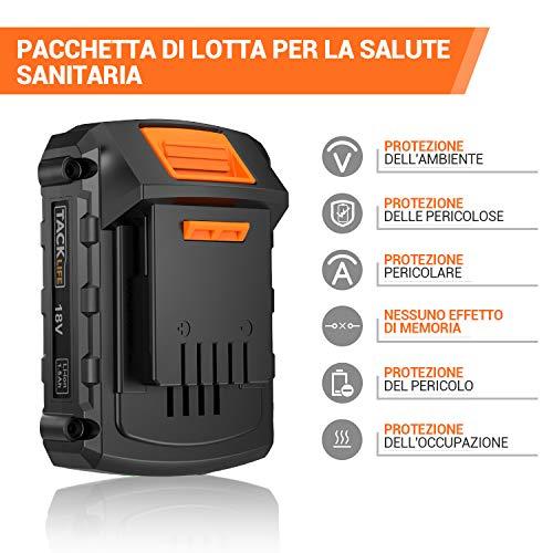 TACKLIFE Brushless Avvitatore Elettrico 18V con 2 batterie al litio (2.0Ah) 2 Velocità con 19+1 Regolazioni Coppia Max 65N.m Mandrino da 13mm BLPCD01B