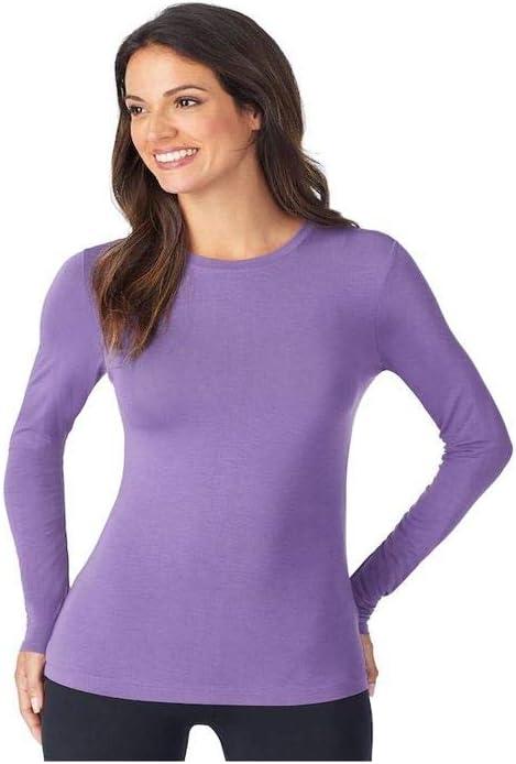 Cuddl Duds Long Sleeve V-Neck Warm Layer Soft Wear with Stretch