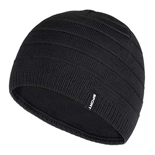 Bodvera Mens Winter Beanie Hat Warm Knit Cuffed Plain Toboggan Ski Skull Cap (3...