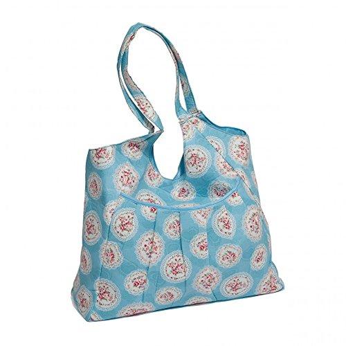 Valeur Craft Sac cabas Motif camée de rangement Motif Floral Bleu