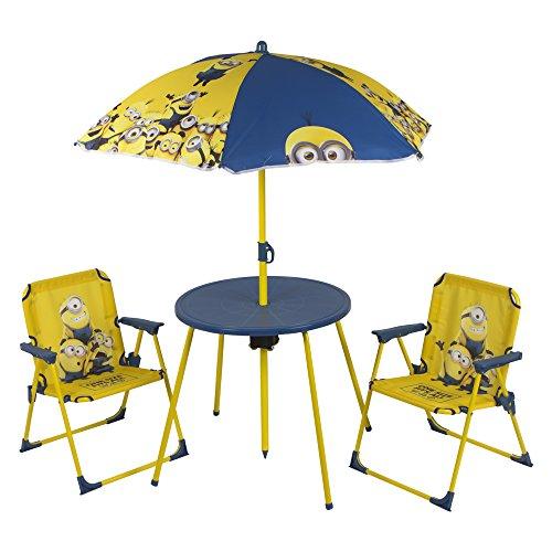 Colorbaby – Set de Table, chaises et Parasol Motif Minions (76576)