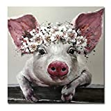 Engfgh Tierölgemälde Bunte Wandkunst Leinwand Poster