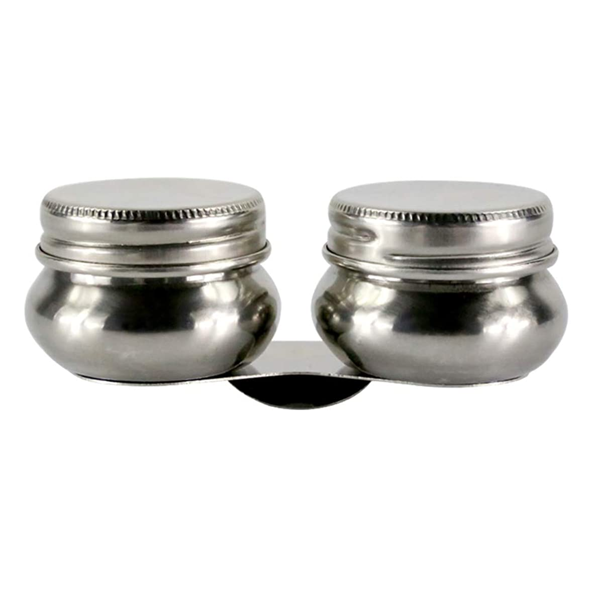 Looneng Double Dipper Palette Cup with Screw Lid and Clip