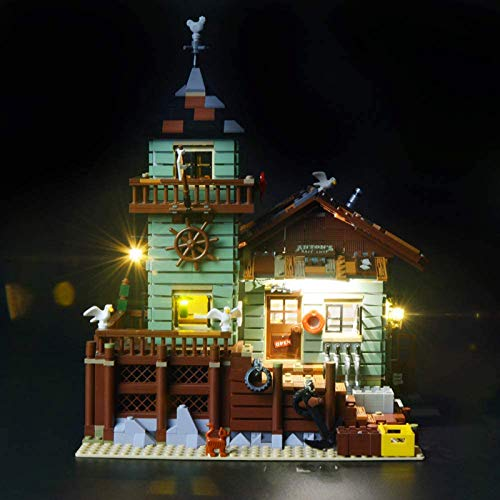RTMX&kk Kit de Iluminación LED para (Antigua Tienda de Pesca), Compatible con Lego 21310 Modelo de Bloques de Construcción (NO Incluido en el Modelo)
