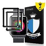 Alinsea Schutzfolie für iWatch 42mm (2 Stück ), Alinsea Panzerglas Bildschirmschutzfolie [9H Festigkeit] [Kristall-Klar] [Blasenfrei] für iWatch 42mm Series 1 /2 / 3, Sport, Edition, Nike+