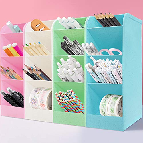 lapiceros para escritorio,Organizador de escritorio,compartimentos Soporte para bolígrafo,Portalápices Multifuncional,Soporte para bolígrafo de Escritorio,Organizador de Pluma (L)