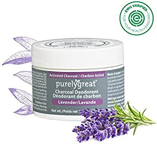 Natural Deodorant with Activated Charcoal | For Men & Women | Long-Lasting, EWG Verified, Vegan, Aluminum Free, Cruelty-Free, No Aluminum, No Parabens, BPA Free | Lavender Scent by Purelygreat