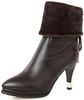 CUTEHEELS Women Mid-Calf Roman Boots
