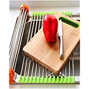 """GiniHome GN1056A GN1056 Stainless Steel, Roll Up Dish Drying Rack, 20-1/2""""L x 13-1/8""""W x 1/4""""H"""