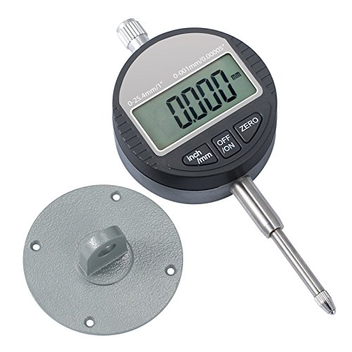 AUTOUTLET Sonda Indicadora de Dial Digital 0.001mm / 0.00005  Rango DTI calibrador de Prueba de Dial de Indicador 25.4mm / 1  Medición de Alta precisión Indicadores Industriales